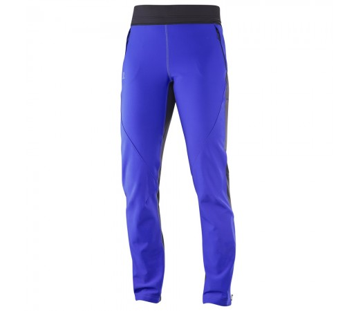 Pantaloni schi nordic Salomon Momemtum Softshell Pant W Albastri/ Negri