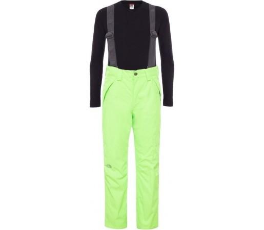 Pantaloni Schi si Snowboard The North Face B Snowquest Suspender Verzi