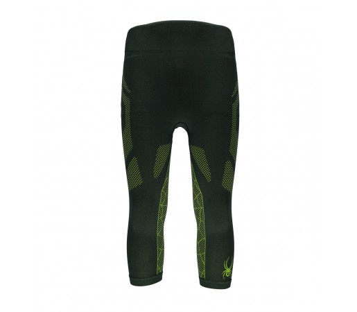 Pantaloni First Layer Spyder Captain (Boxed) 3/4 Negru/Verde