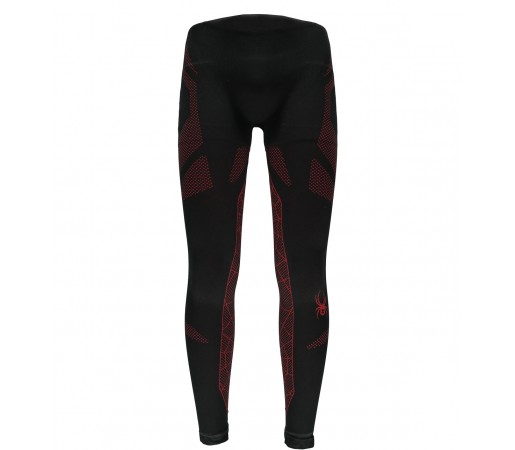 Pantaloni First Layer Spyder Captain (Boxed) Negru/Rosu