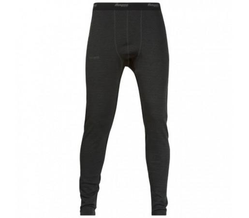 Pantaloni first layer Snoull Bergans Of Norway- 100% Merino Wool Negru