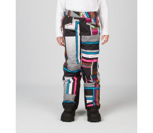 Pantaloni Schi si Snowboard Spyder Girls Vixen Tailored Negru Vybe Print