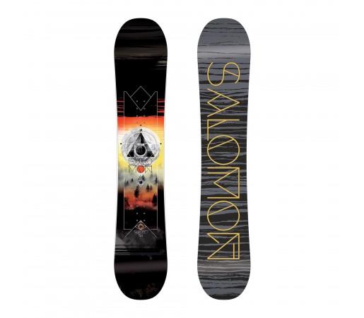 Placa Snowboard Salomon M Subject Neagra/Portocalie