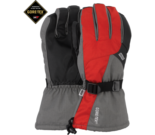 Manusi Schi si Snowboard POW Warner GTX Long Black/Red/Grey