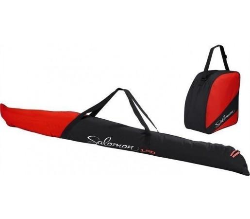 Husa schiuri si clapari Salomon Ski Box Black/Bright Red 2013