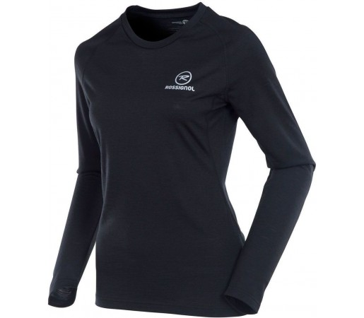 Bluza First Layer Rossignol W 170 Merino Wool LS Black