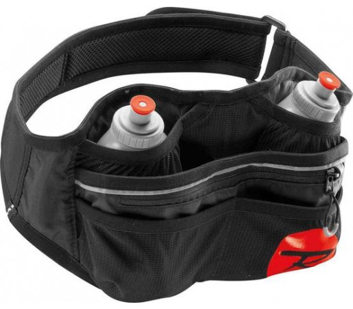 Curea alergare Rossignol Dual Bottle Holder Neagra