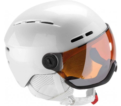 Casca schi si Snowboard Rossignol Visor Lady Single Lense Alba