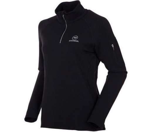 Midlayer Rossignol W 260 Merino Wool Terry 1/2 Zip Black