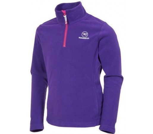 Midlayer Rossignol Girl 1/2 Zip Fleece Purple