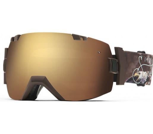 Ochelari Schi si Snowboard Smith I/OX Screaming Eagle/Gold Sol-X mirror