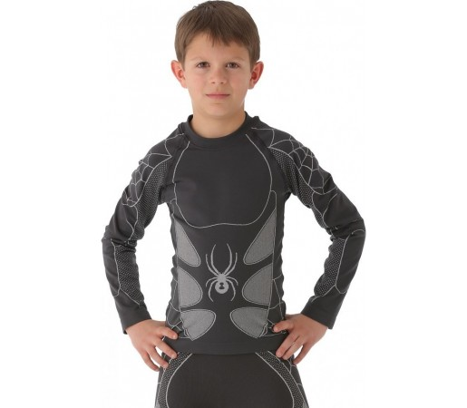 First Layer Spyder Boy's Racer Seamless Gri/Alb