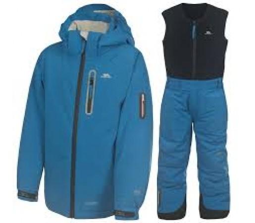 Costum schi Trespass Simba Ultramarine Kids Negru/ Albastru
