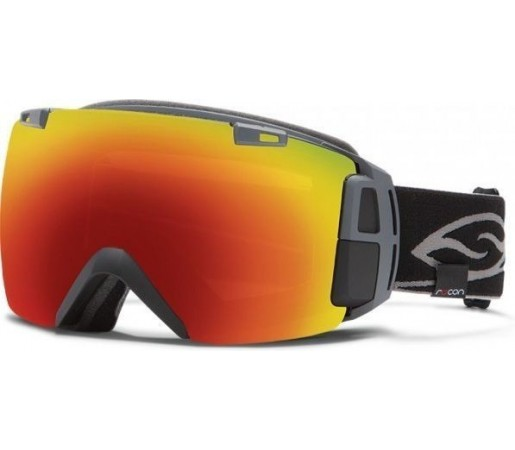 Ochelari Schi si Snowboard Smith I/O RECON Black 13/Red sol-x mirror