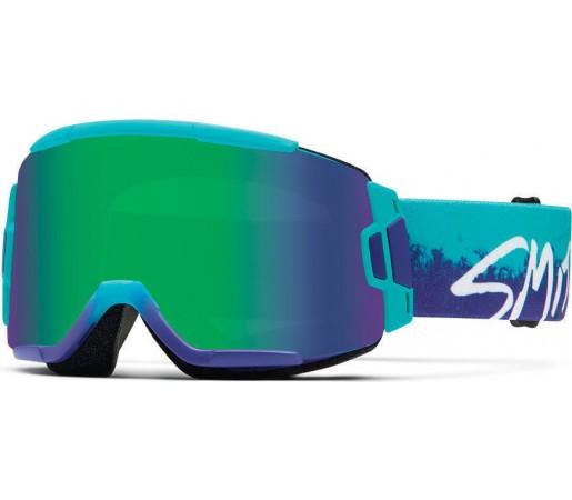 Ochelari Schi si Snowboard Smith Squad Purple Fade Kook / Green Sol-X mirror