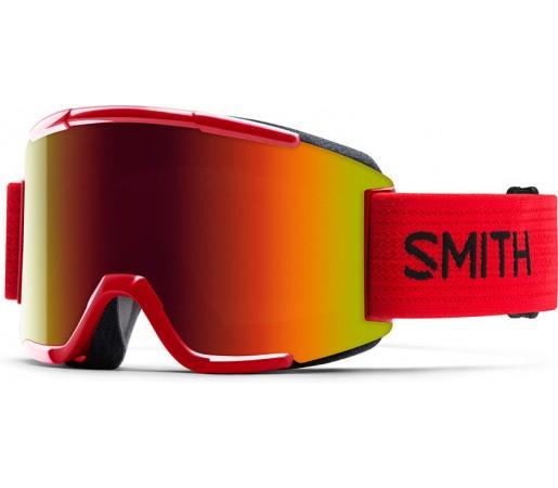 Ochelari de schi si snowboard Smith Squad Rosu/ SOLX SP