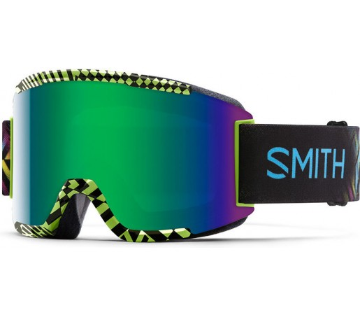 Ochelari de schi si snowboard Smith Squad Verde Backlight Neon/ Green SOLX