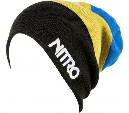 Caciula Nitro M Stacked Negru/Galben/Albastru