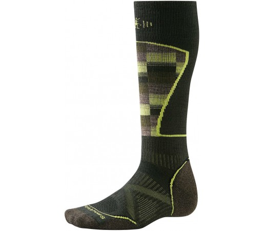 Sosete SmartWool PhD Ski Medium Pattern Socks Green