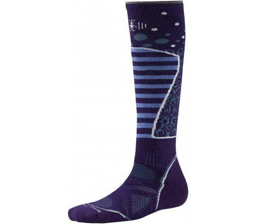 Soseste SmartWool W PhD Ski Medium Pattern Purple