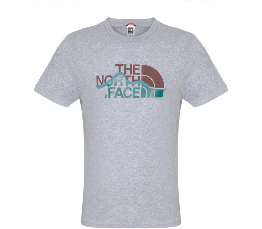 Tricou The North Face M S/S Mountain Line Gri