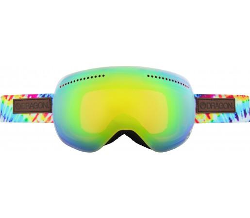 Ochelari Schi si Snowboard Dragon APX TieDye Albastru/ Gold Ion + Yellow Blue Ion