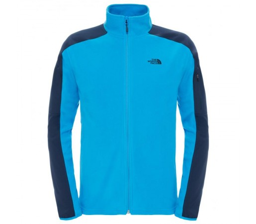 Polar The North Face M Glacier Delta Full Zip Albastru/Negru