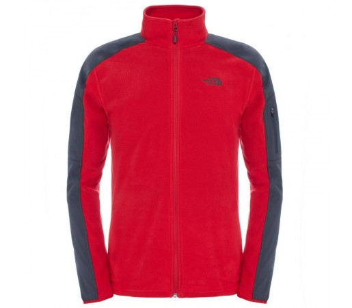 Polar The North Face M Glacier Delta Full Zip Rosu