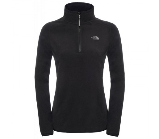Polar The North Face W 100 Glacier 1/4 Zip Negru