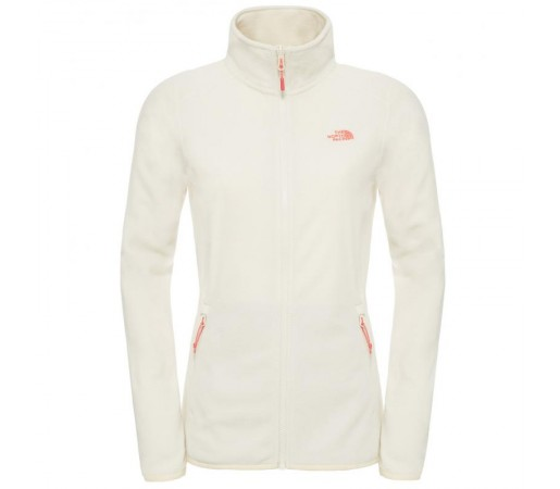 Polar The North Face W 100 Glacier Full Zip Alb