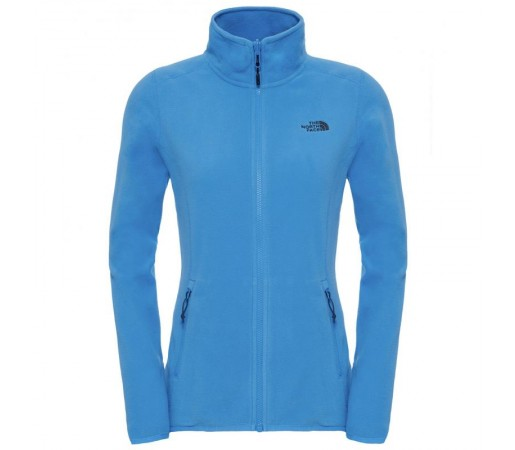 Polar The North Face W 100 Glacier Full Zip Albastru