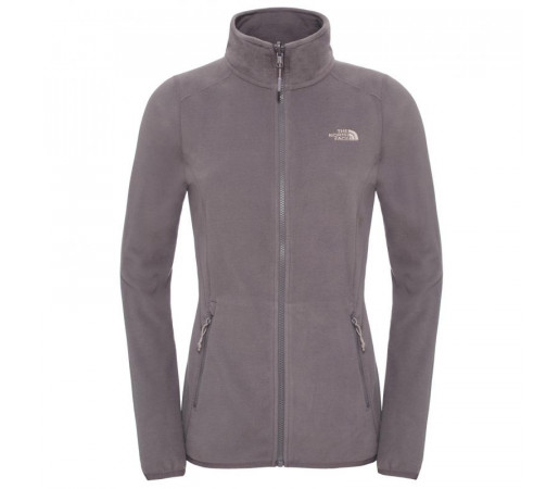 Polar The North Face W 100 Glacier Full Zip Gri
