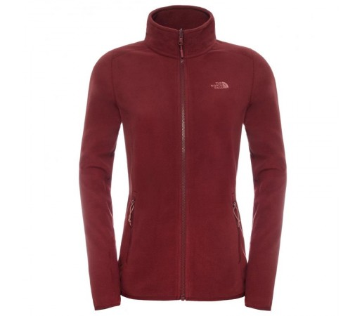 Polar The North Face W 100 Glacier Full Zip Rosu/Roz