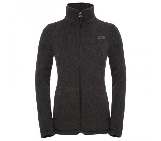 Bluza The North Face W Crescent Full Zip Negru/Gri