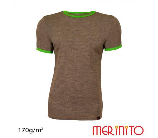 Tricou Barbati Merinito Maro/ Verde