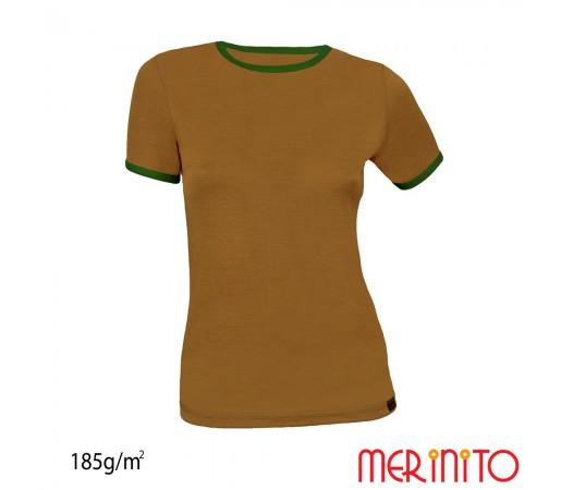 Tricou Dama Merinito Olive/ Verde