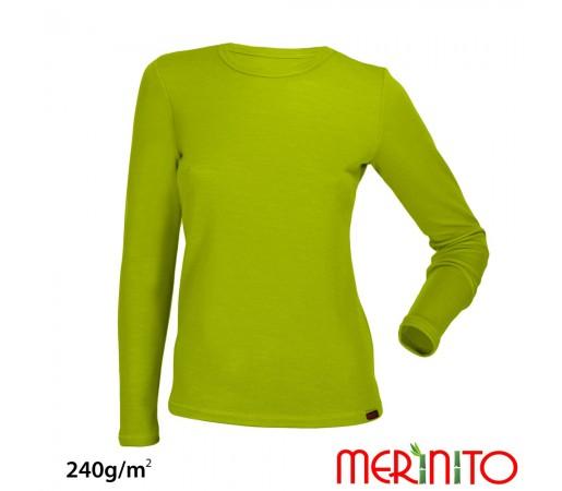 Bluza First Layer Merinito/ Bambus Femei Lime