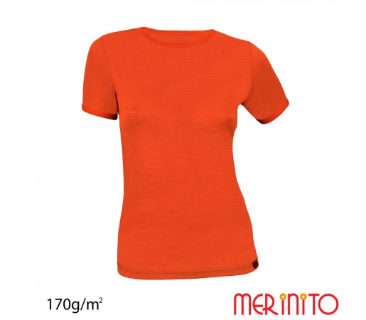 Tricou First Layer Merinito Dama Portocaliu