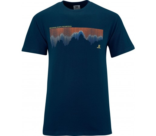 Tricou Salomon Mountlogo Tee M Blue