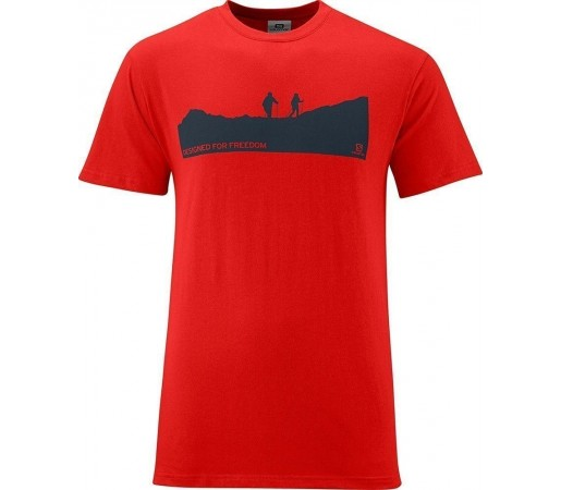 Tricou Salomon Polylogo Tee M Red