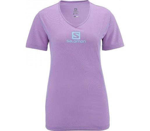 Tricou Salomon Stroll Logo Tee W Orchid