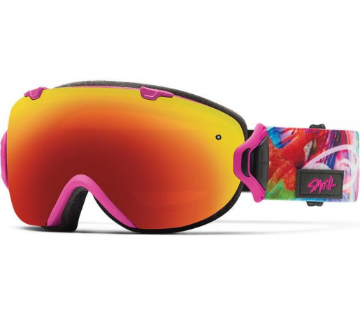 Ochelari Schi si Snowboard Smith I/OS Magenta Tropidelic / Red Sol-X mirror
