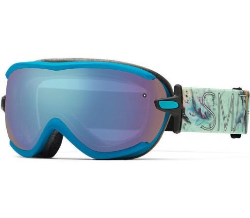 Ochelari Schi si Snowboard Smith Virtue SPH Aqua Oil and Water / Blue Sensor mirror