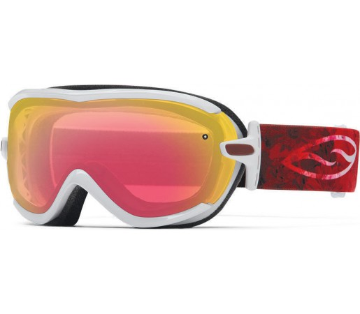 Ochelari Schi si Snowboard Smith Virtue SPH White Floral Ombre / Red Sensor mirror