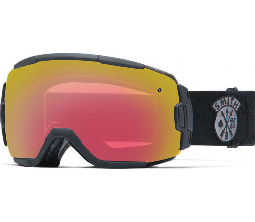 Ochelari Schi si Snowboard Smith VICE Black Sabotage / Red Sensor mirror