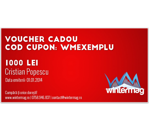 Voucher cadou Wintermag 1000 lei