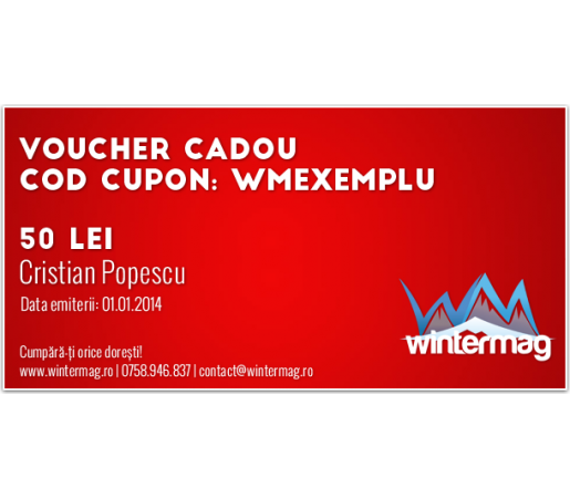 Voucher cadou Wintermag 50 lei