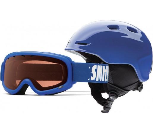 Casca Schi si Snowboard Smith Zoom JR / Gambler Cobalt