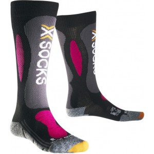 Sosete X-Socks Ski Carving Silver Lady Black/Violet