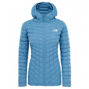 Geaca The North Face Thermoball Hoodie W Albastru